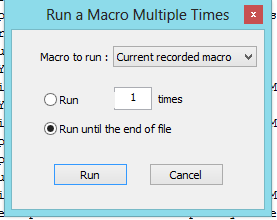 run macro multiple tmes